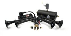 Hornblasters Conductorand039s Special 2485k Nightmare Edition Loud Train Air Horn Kit