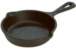 Mini Cast Iron Skillet Seasoned Frying Pan 3.5 Inch Cooking Camping Cookware
