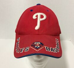 Phillies Red White Blue Adult Baseball Cap Worn And Two Tiny Holes - As Is