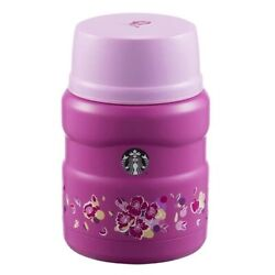 Starbucks 16oz Cherry Blossoms Stainless Steel Thermos Vacuum Insulated Food Jar