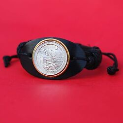 2014 Tennessee Great Smoky Mountains National Park Quarter Leather Bracelet New