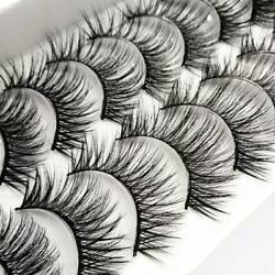 10 Pairs Thick False Eyelashes Black Smoke Makeup Exaggerated Terrier Cross