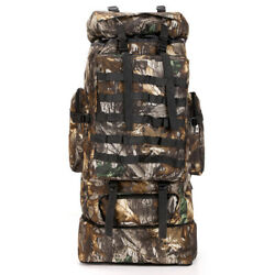 100L Men Military Tactical Backpack Rucksack Molle Hiking Camping Bag Camouflage $25.78