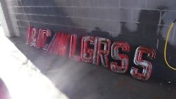 Vintage Neon 11 Letters 1950and039s Gas Station Store From New Mexico 20.5 Tall