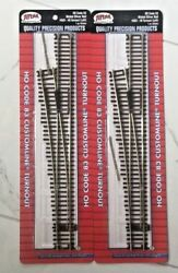 2 - Atlas 1/87 Ho Code 83 Nickel Silver Manual 6 Left Turnout Switches 563 F/s