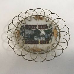 Boot Hill Dodge City Kansas Souvenir Mini Plate With Wire Frame Hd8