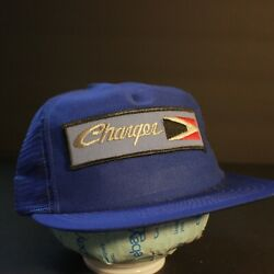 Dodge Charger Patch Trucker Hat Cap Snapback Hipster Retro Blue USA Made