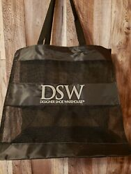 DSW Store Black Mesh Shopping Tote Bag 12