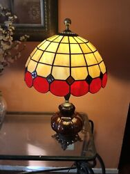 Vintage Ef Ef Industries Lamp Amber Color Base With Style Top