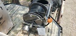 Hannay Electric Wind 3/4 Hydraulic Hose Reel With High Pressure Hose, New