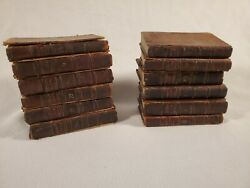 Antique 1776 Leather Collection Of English Poets Book Set Aberdeen John Boyle