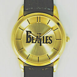 Beatles Collectible Fossil Gold Tone Watch, Numbered Xx Of 1k Leather Band 199