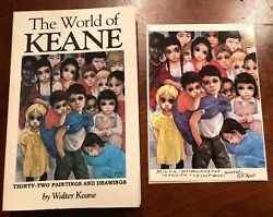 Signed The World Of Keane By Walter Keane 1st Edition 1983 Plus Signed Card