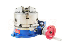 10 Horizontal And Vertical Rotary Table W/ 10 3 Jaw Self Centering Chuck }