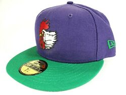 New Era 59fifty Port City Roosters Hat Milb Rare Vtg Wilmington Nc Mariners 5950