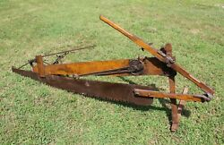 Antique Folding Sawing Machine Co. Human Powered Lever Action Drag Saw 2