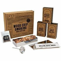 Wood Chips For Smoking Grilling Box Set Bbq Accessories Perfect Birthday Gifts
