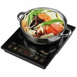1800 Watt 5 Pre-programmed Settings Induction Cooker Cooktop Included 10andrdquo