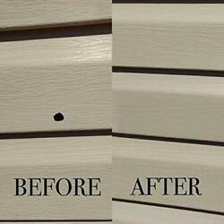 Vinyl Siding Repair Kit Cover Any Cracks Holes Or Blemishes On - 10 Patches