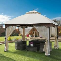 10'x12' Canopy Shelters, Shade/rain Protection Gazebo, Mosquito Netting Built-in