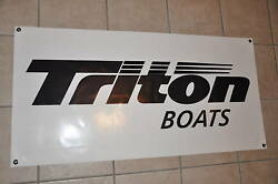 Triton Boats Banner 48 24 With Sticker Decal White Bass Boat