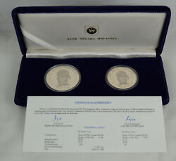 Malaysia 1986 Pata Conference 1 And 5 Ringgit Proof Set