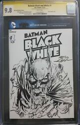 Batman Black And White 1.signed, Sketched Neal Adams. Cgc Ss 9.8. Zombie Batman