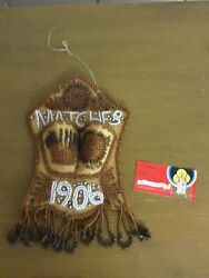 Antique Native American Beaded Matches Match Holder Wall Pocket Beautiful Item