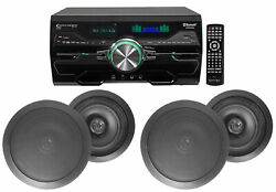 Dv4000 4000w Home Theater Dvd Receiver+4 6.5 Black Ceiling Speakers