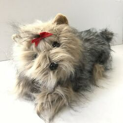 Kellytoy Yorkie Plush Dog Yorkshire Terrier Large 21 Inches Long Furry Laying
