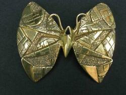 William Delillo Rare Butterfly Brooch Mcm Brutalist Sterling Signed 1 Of A Kind