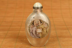Natural Hair Crystal Buddha Full Of Goodwill Toward One Another Snuff Bottle