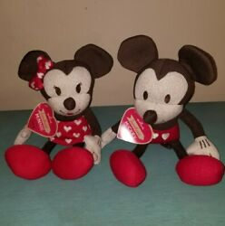 Hallmark Disney Sweetheart Mickey And Minnie Mouse Collectible Plush Vintage Style