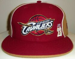 New Vintage Lebron James Cleveland Cavs Cavaliers Nba New Era Fitted 7 3/8 Rare