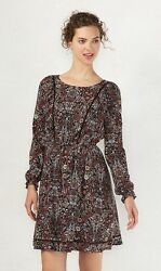 LC Lauren Conrad floral print long sleeve mini Dress Womens size Large NWT