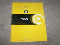John Deere Used A50 A90 And A150 Portable Space Heaters Operators Manual A4