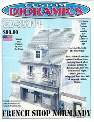 Cd-0011 French Shop Normandy, 1/35 Scale Resin Building Comes With Cd Disk