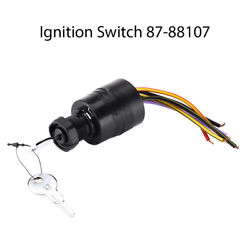 Ignition Key Switch Replaces 87-88107 For Boat Marine Mercury Outboards 6 Wires