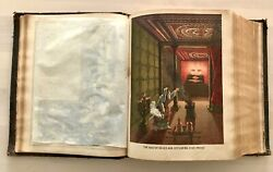 Rare Antique Religious Christianity Large Bible Color Engravings Maps Holy Cards