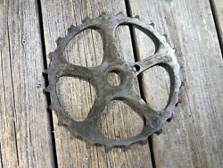Antique Bike Bicycle Skip Tooth Chainring Inch Linch Old One Piece Crank Used 10