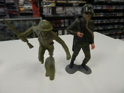 6 Marx Soldiers 2 Figures  British Wwii Soldier And A Combat Soldier