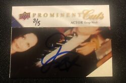 2009 Ud Prominent Cuts George Wendt Auto /5 Upper Deck Signature Sp Cheers Norm