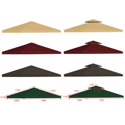 10x10and039 Outdoor Gazebo Top Tent Cover Pop Up Sunshade Canopy Replacement 1 2 Tier