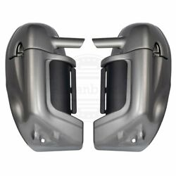 Pewter Pearl Lower Vented Fairings Kit For Harley Street Electra 86-2013
