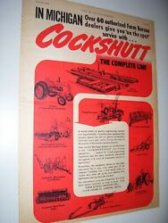 Vintage Cockshutt Co Advertising -4 Tractors And Implements - 1953
