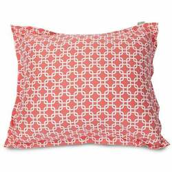 Majestic Home Goods Coral Links Oversized Floor Plush Pillow Coral Oversized