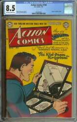 Action Comics 158 Cgc 8.5 Ow/wh Pages // Golden Age Origin Of Superman Retold