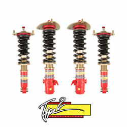 For 08-19 Subaru Wrx Sti Type 2 Function And Form Full Adjustable Coilovers