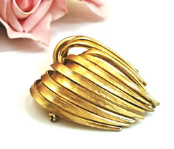 Vintage Costume Jewelry Grosse Germany Gold Plated Designer Signed Brooch Pin