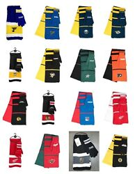 Nhl Knit Scarf And Gloves Gift Set New Nwt - You Select The Teams Free Shipping